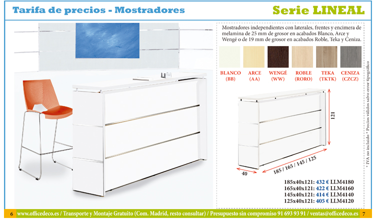 mostradores serie Lineal