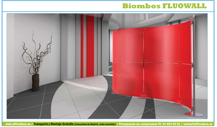 Biombos de oficina galeria biombos fluow muebles y for Biombos metalicos