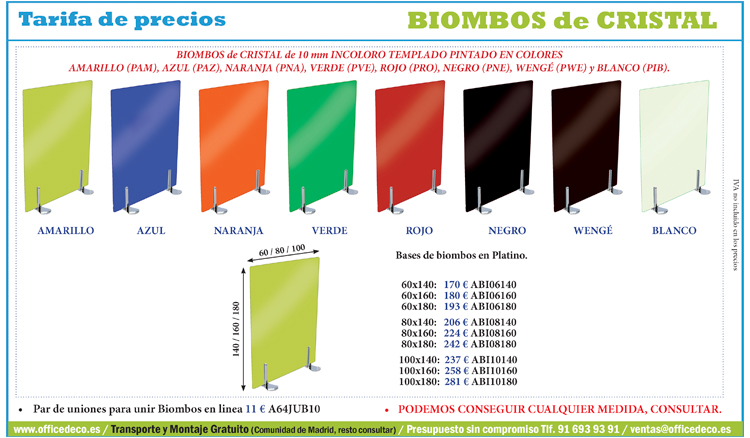 Galer a im genes biombos cristal muebles y sillas de for Biombos metalicos