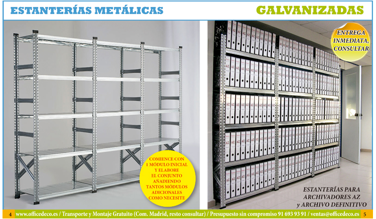 Estanter as met licas galvanizadas muebles y sillas de - Estanterias metalicas de diseno ...