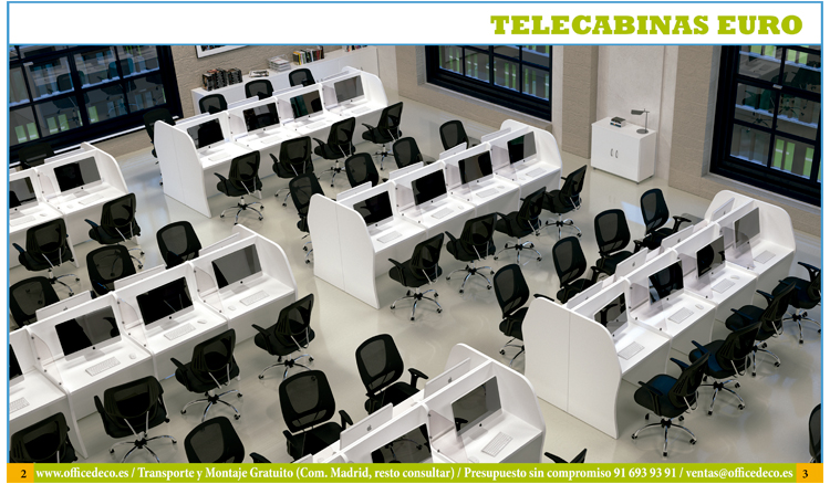 Mobiliario para call center muebles y sillas de oficina for Muebles para call center