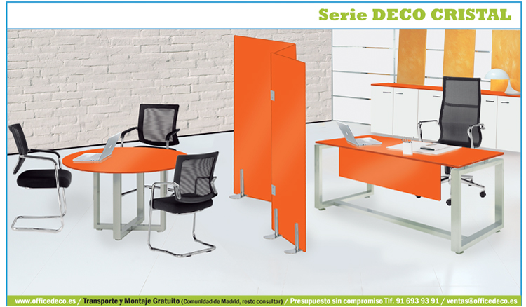 Muebles de oficina cristal deco mate muebles y sillas de for Deco oficina
