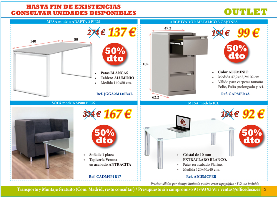 Mobiliario de oficina outlet muebles y sillas de oficina for Outlet muebles oficina