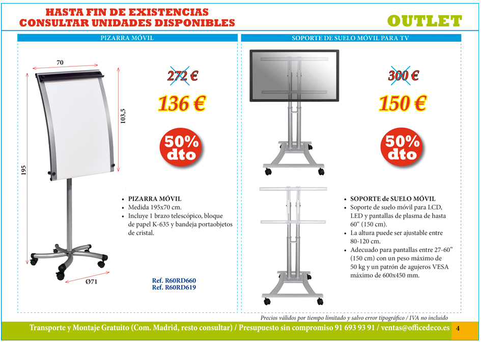 Outlet pagina 4 muebles y sillas de oficina for Muebles de oficina outlet