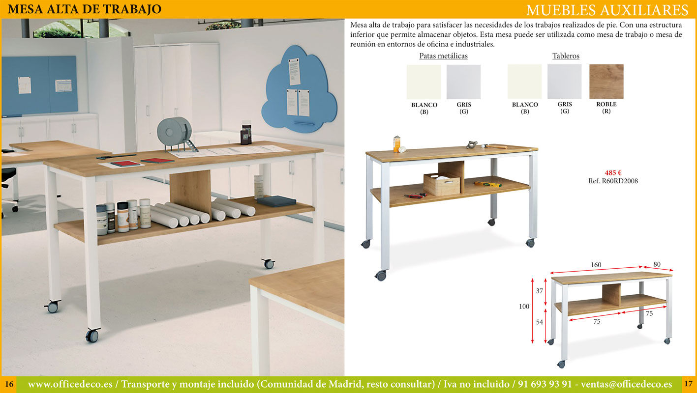 muebles auxiliares de oficina