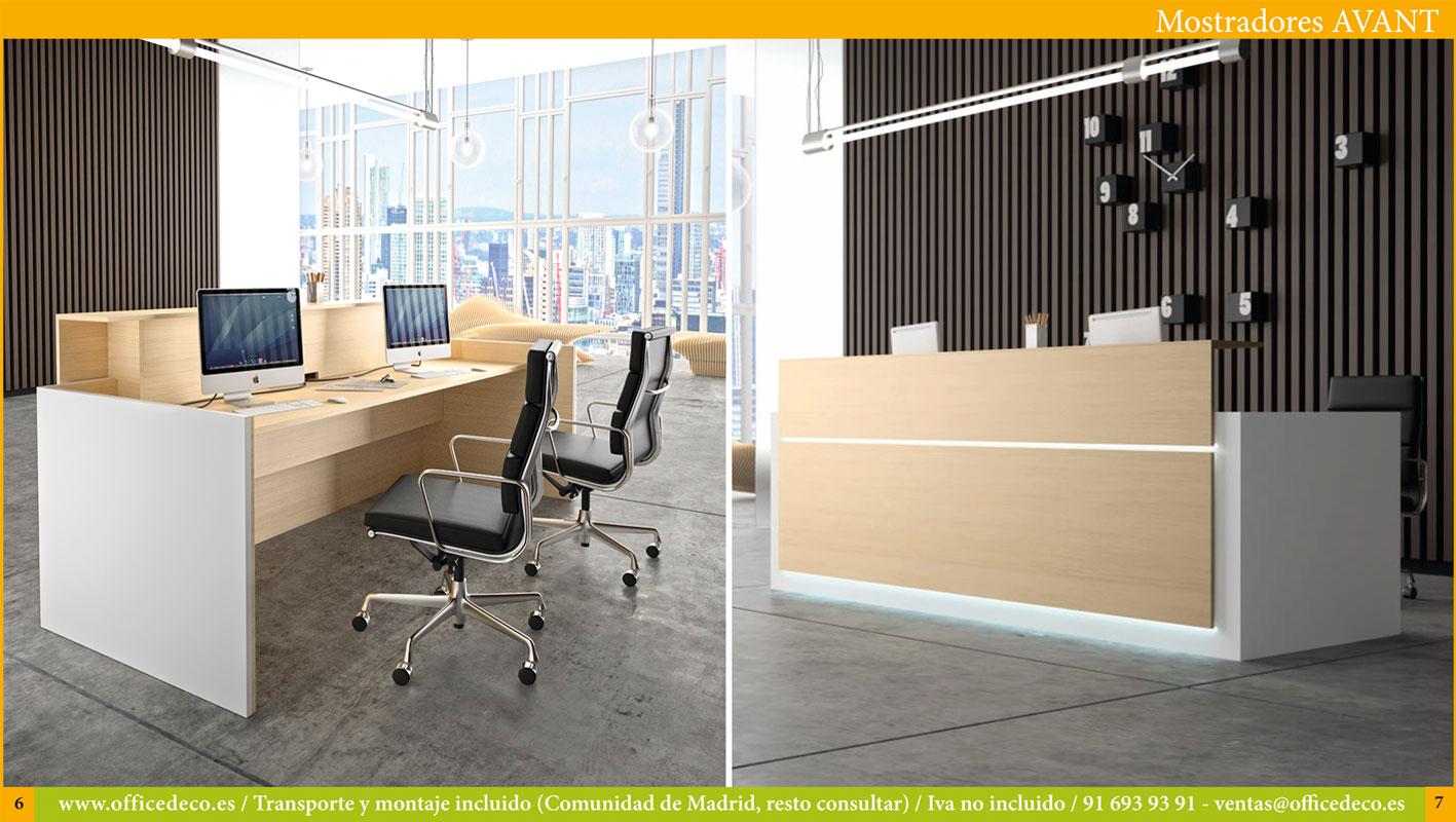 mostradores y recepciones para oficinas