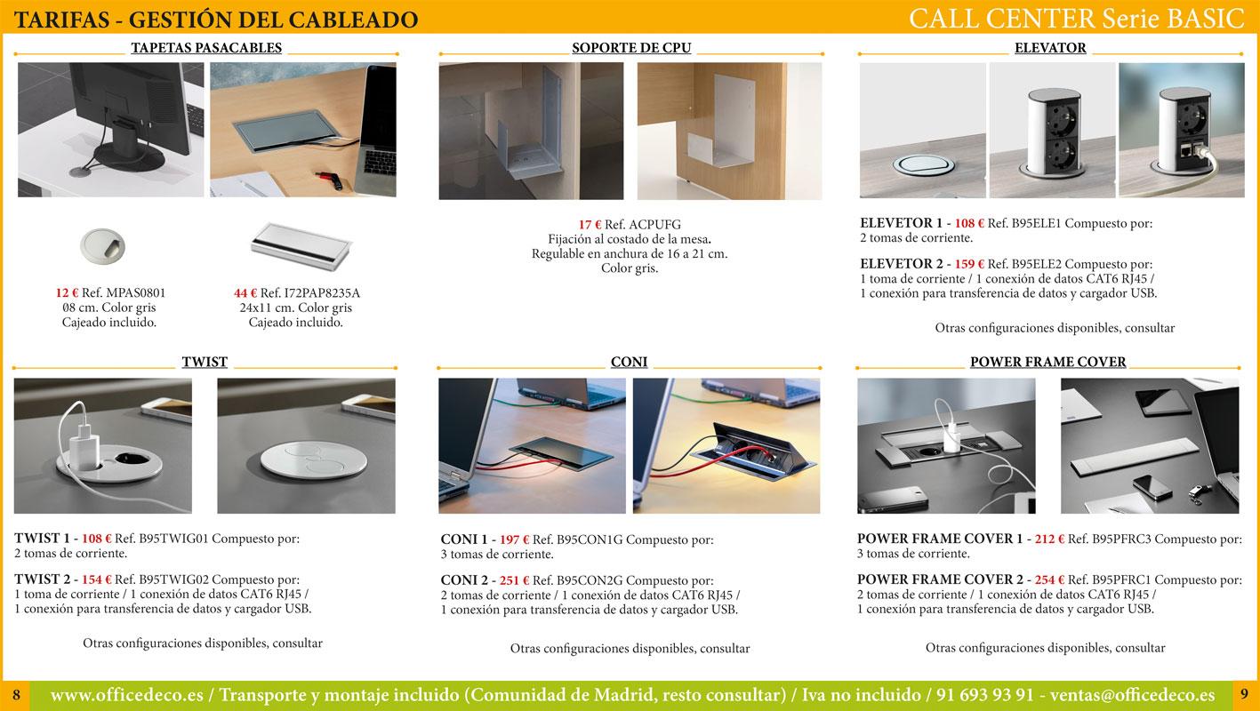 mobiliario call center serie basic