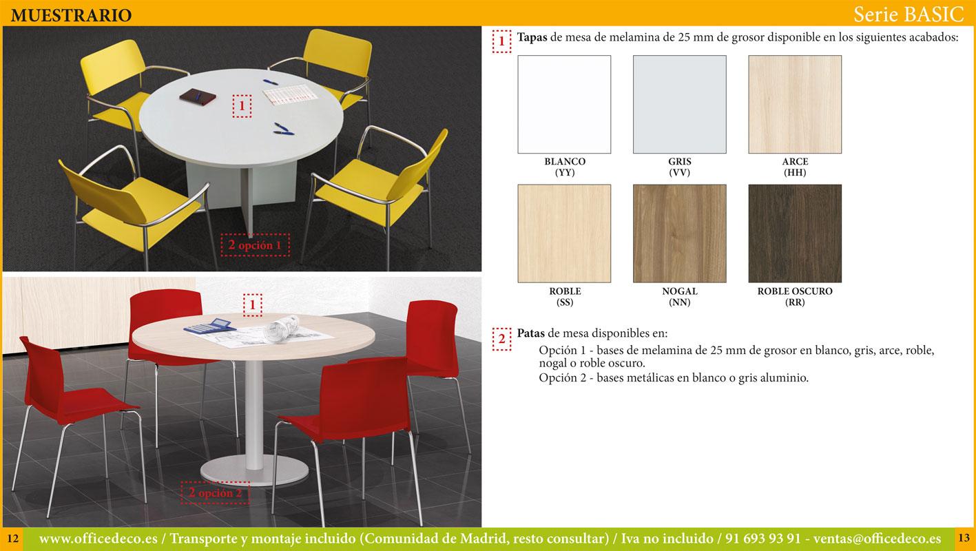 mesas de juntas serie basic