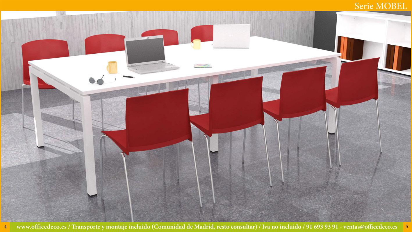 mesas de juntas y reuniones serie mobel