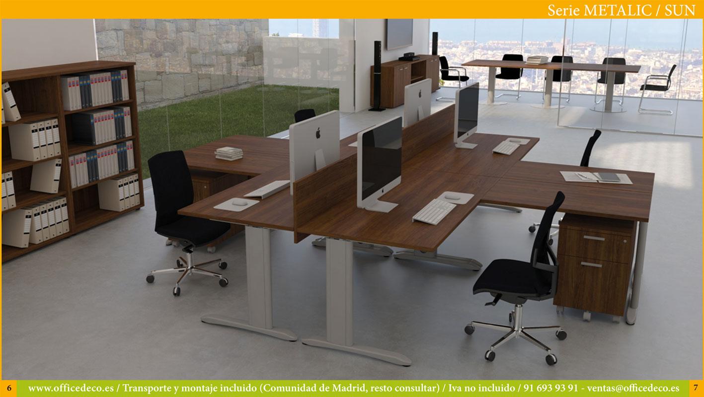 muebles de oficina operativos serie metalic