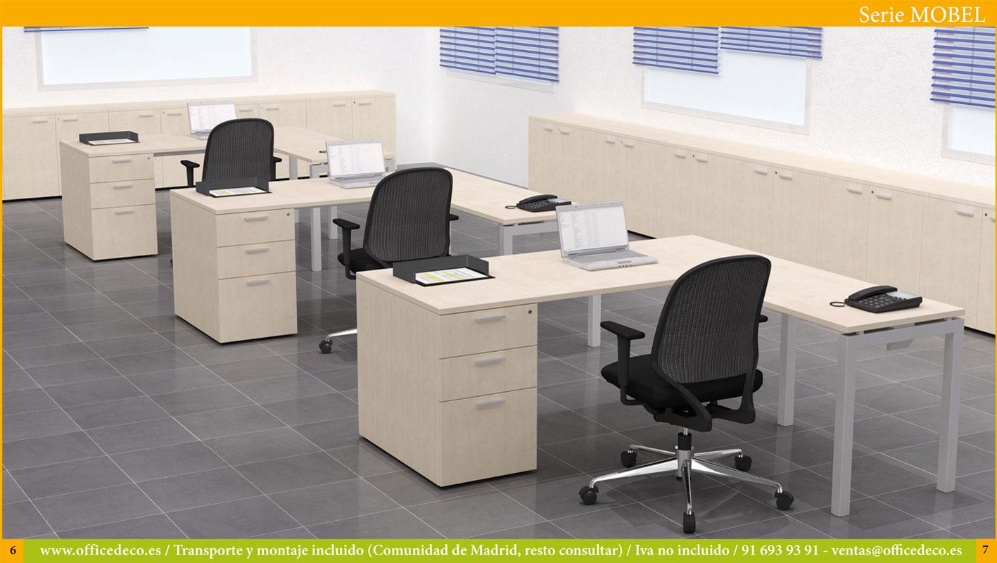 mesas de oficina serie mobel