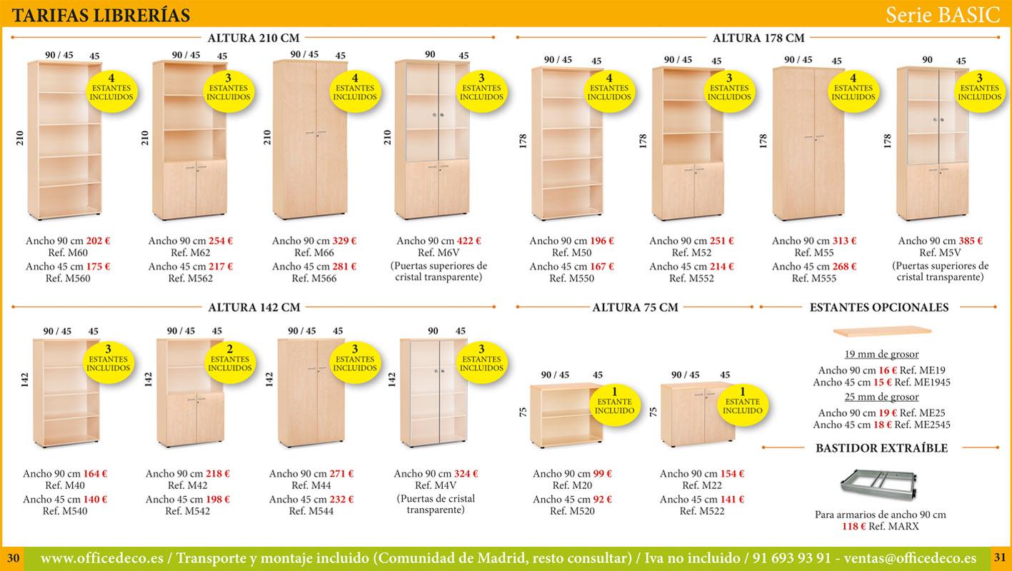 Muebles de oficina serie basic
