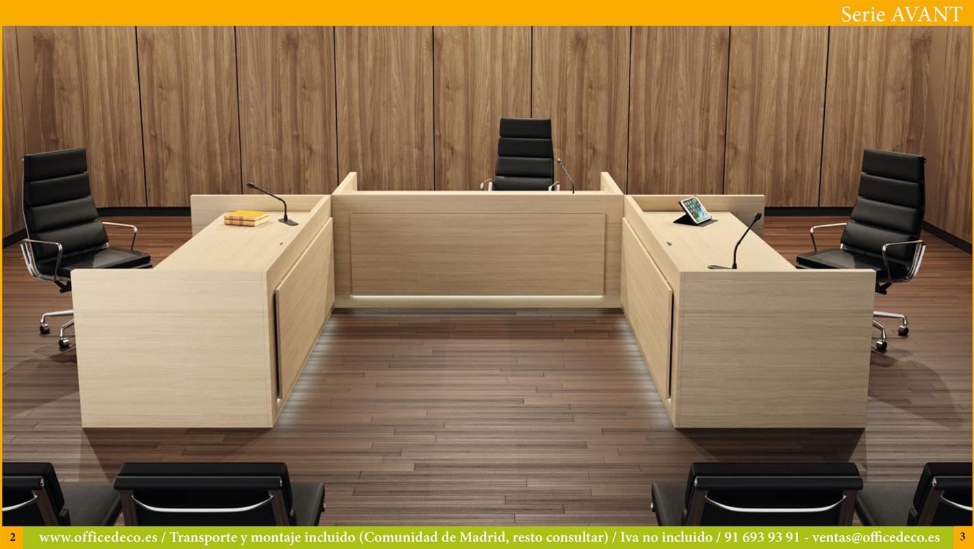 mesas de ponencias serie avant