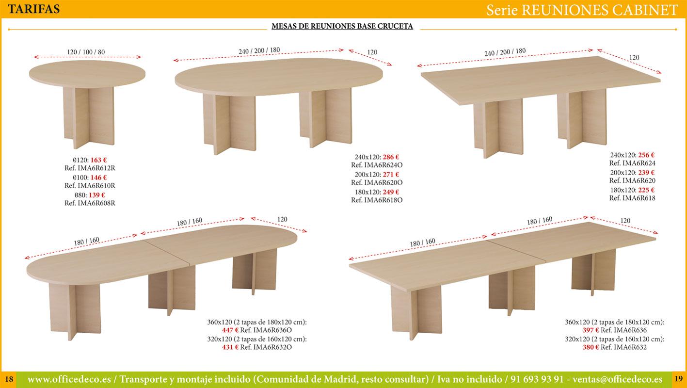 mesas de juntas serie Cabinet