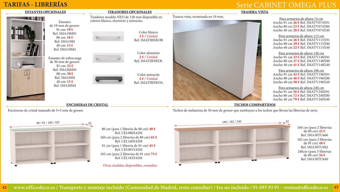 muebles de oficina operativos cabinet omega plus