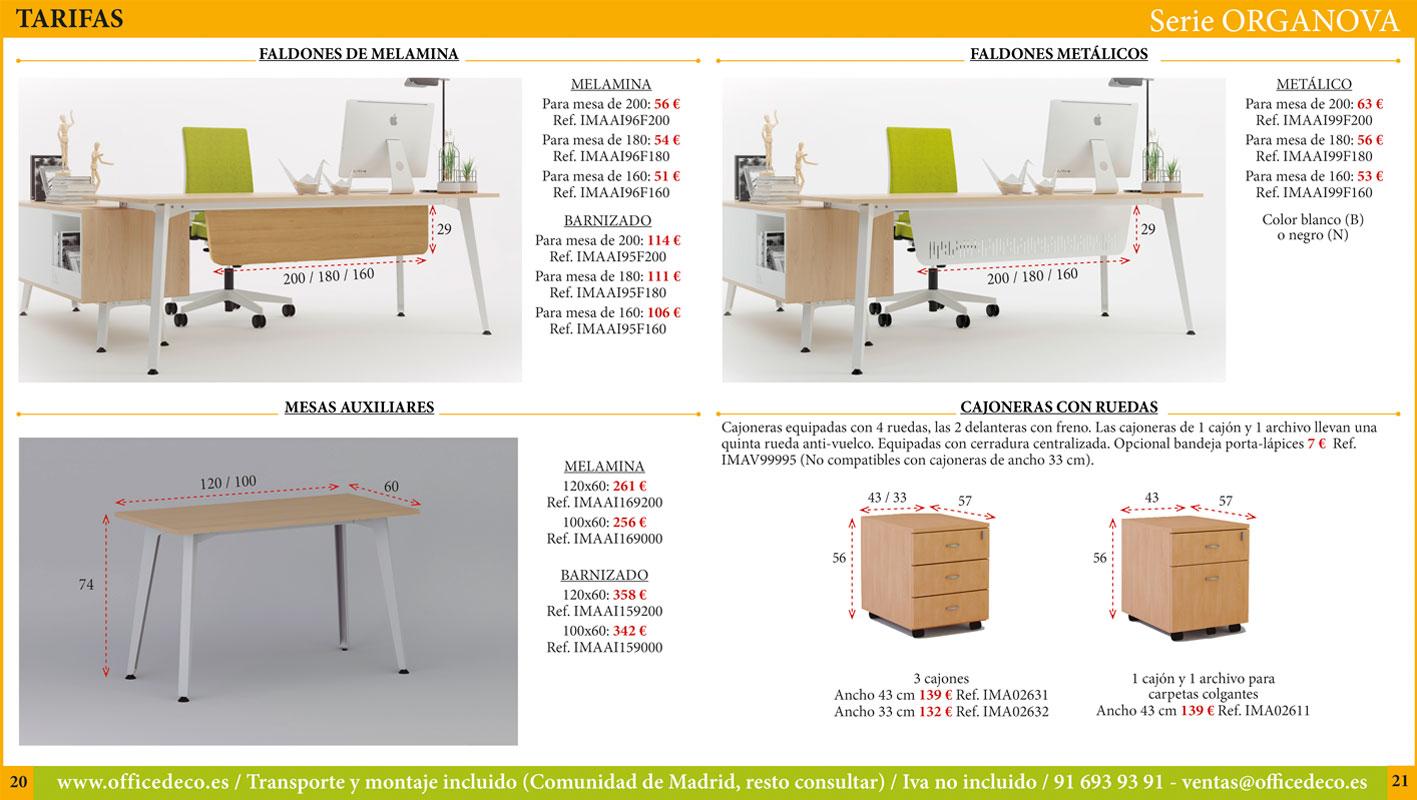 Muebles directivos serie Organova