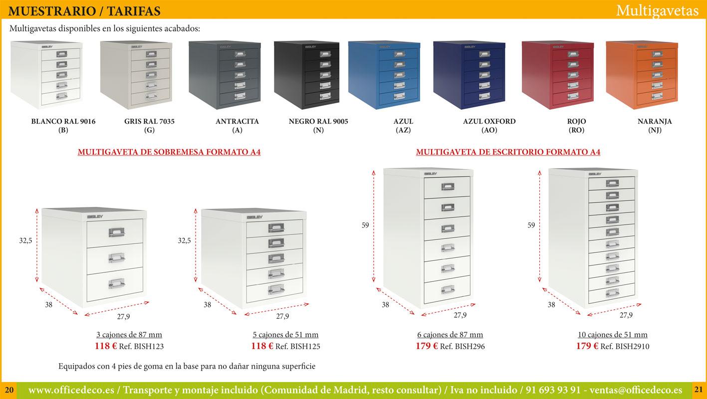 archivadores metálicos