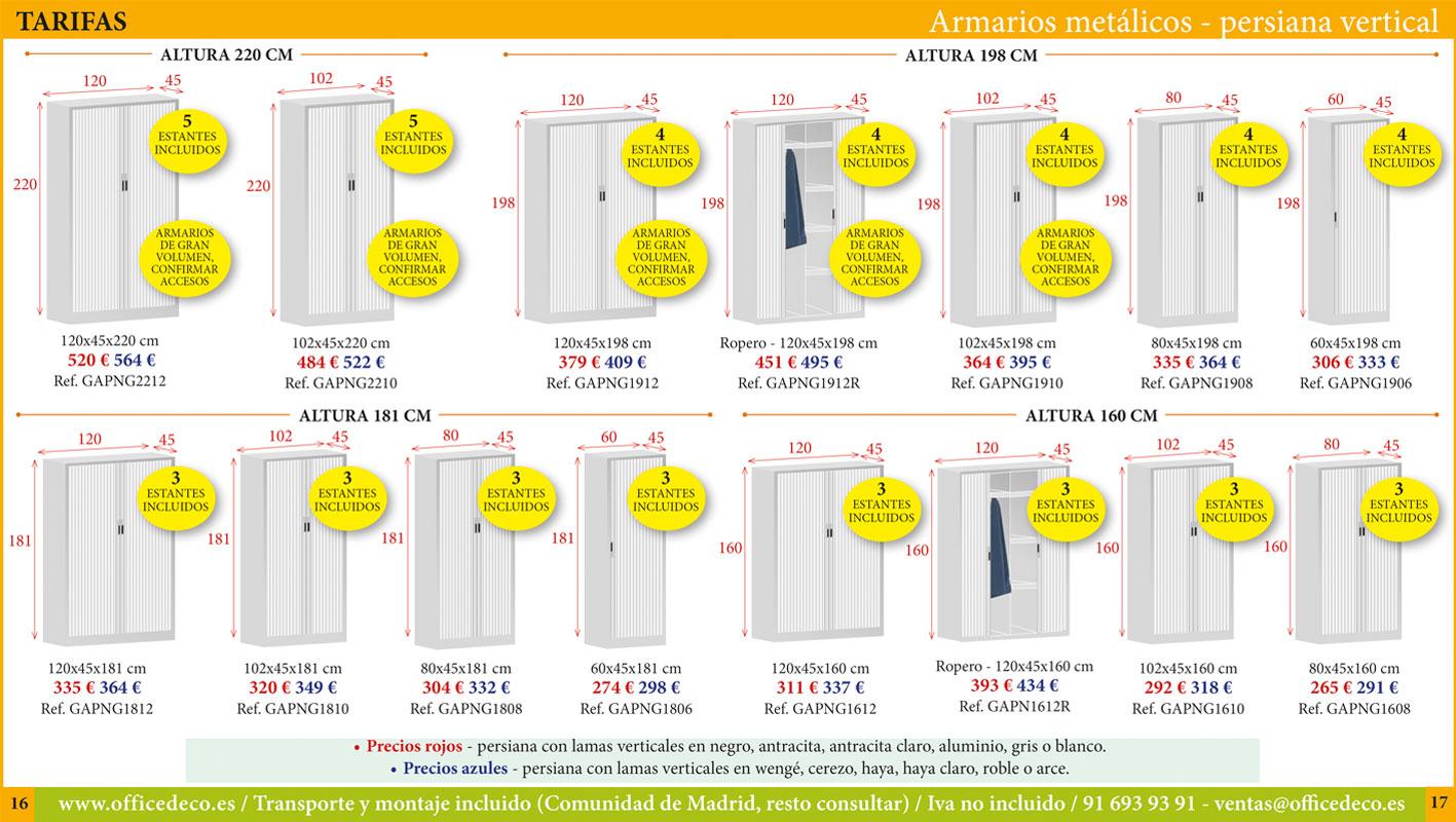 armarios metálicos persiana vertical
