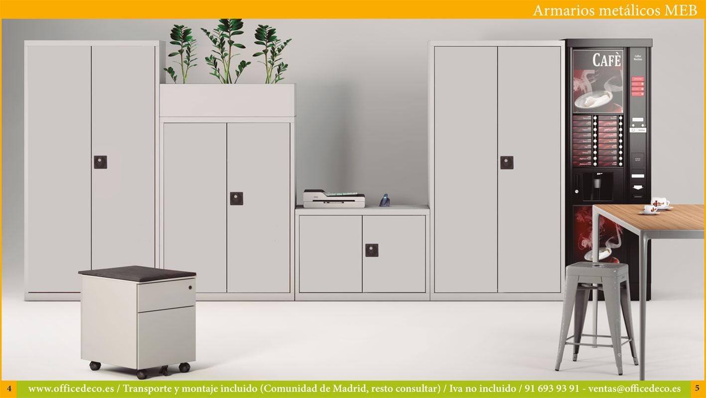 armarios puertas batientes metálicos MEB
