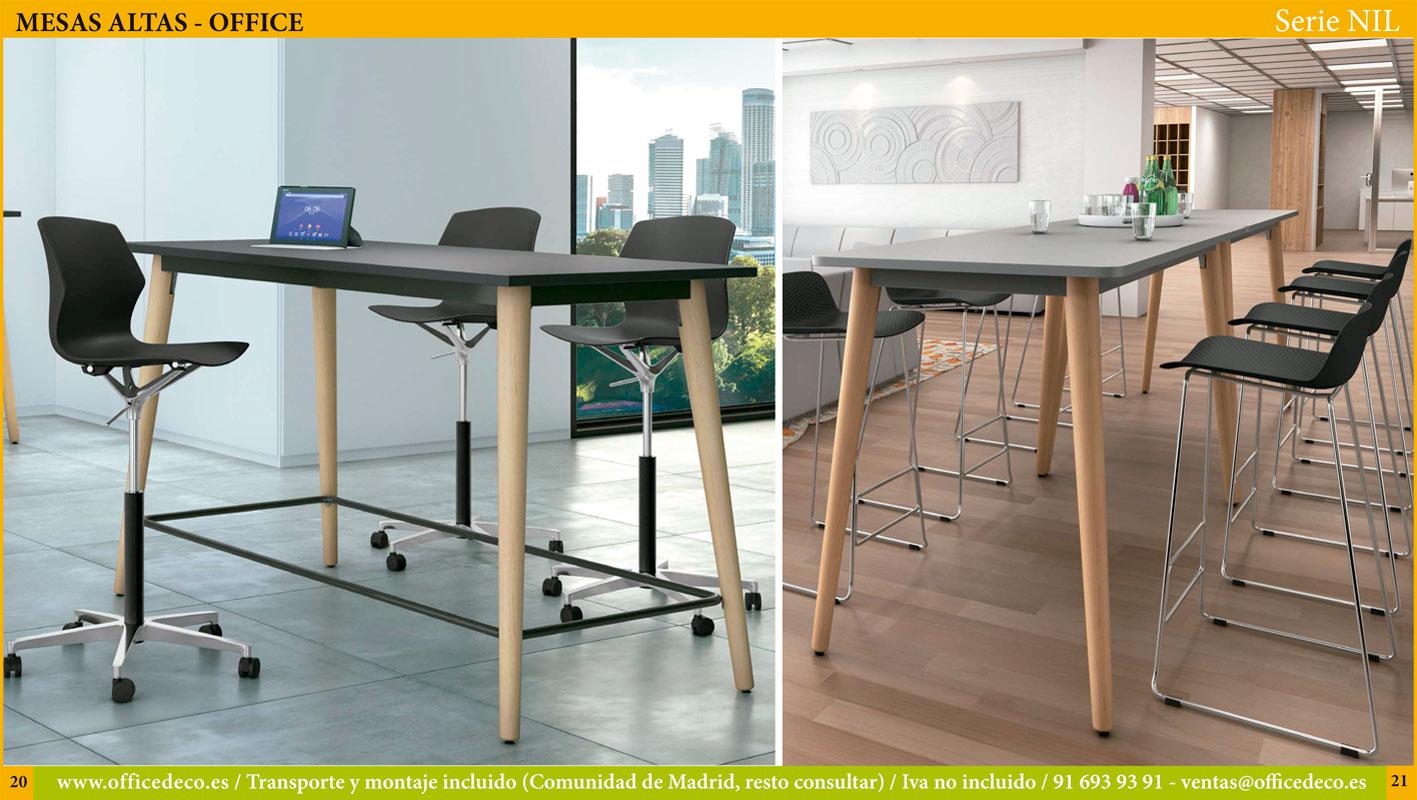 Mesas altas para office