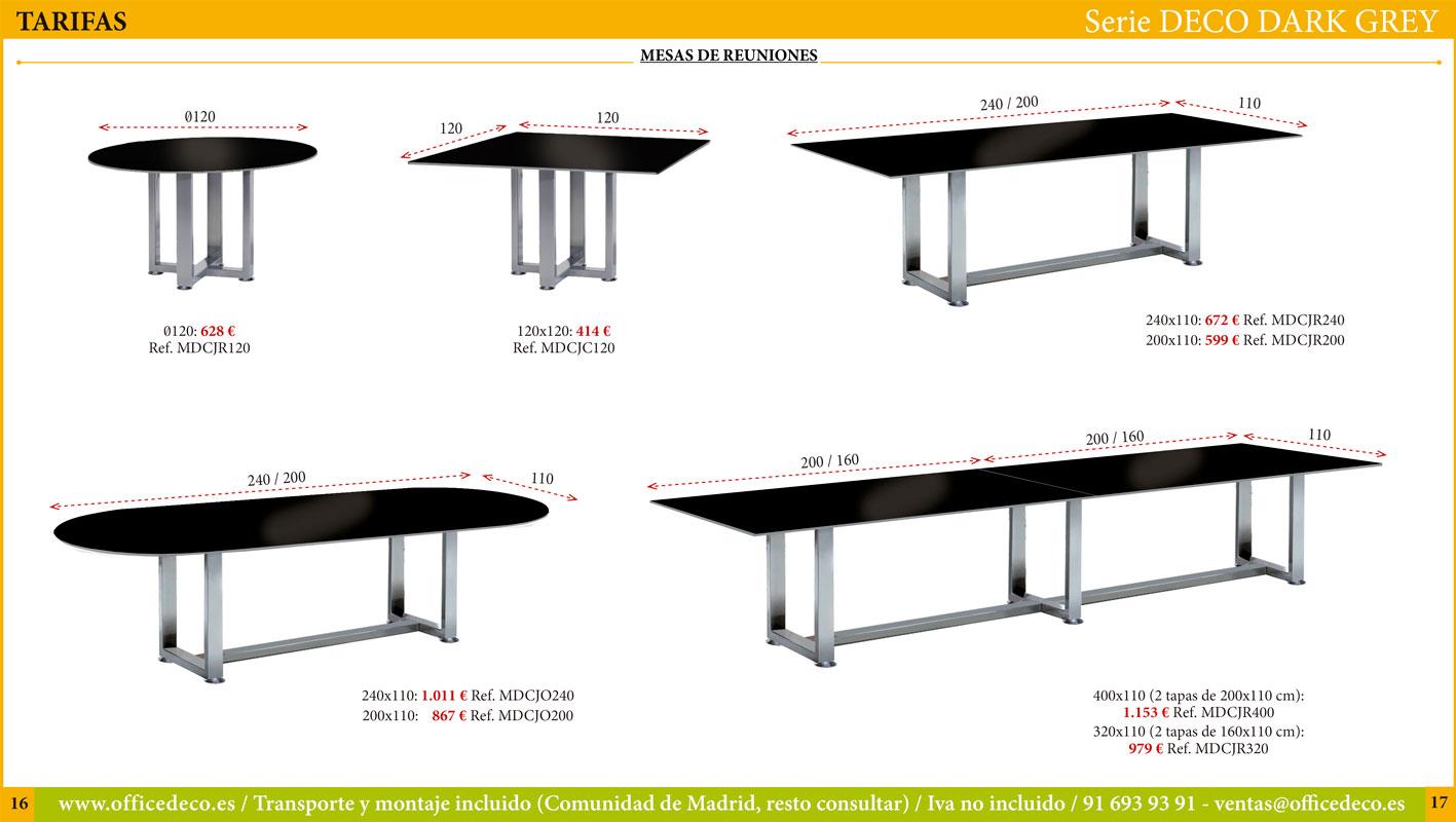 mesas de cristal dark grey