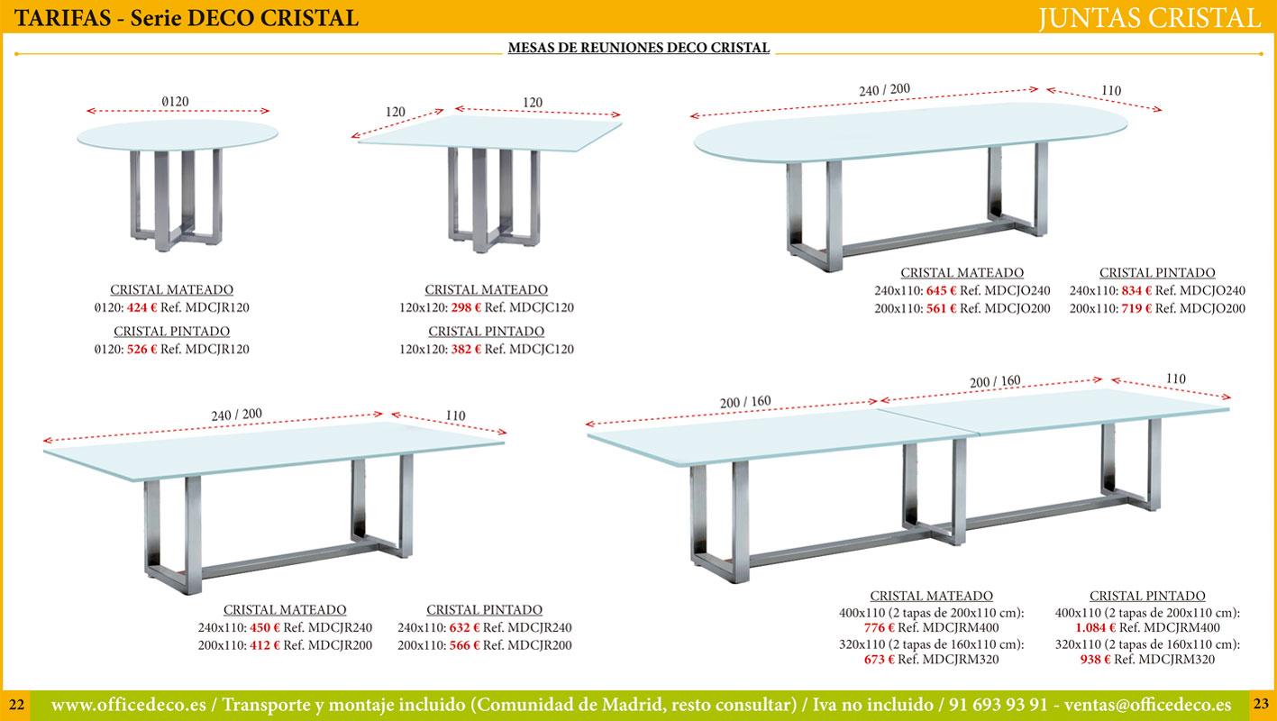mesas de juntas de cristal