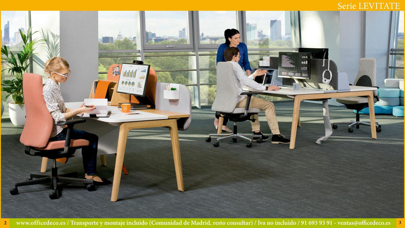 muebles de oficina serie Levitate estilo nordico