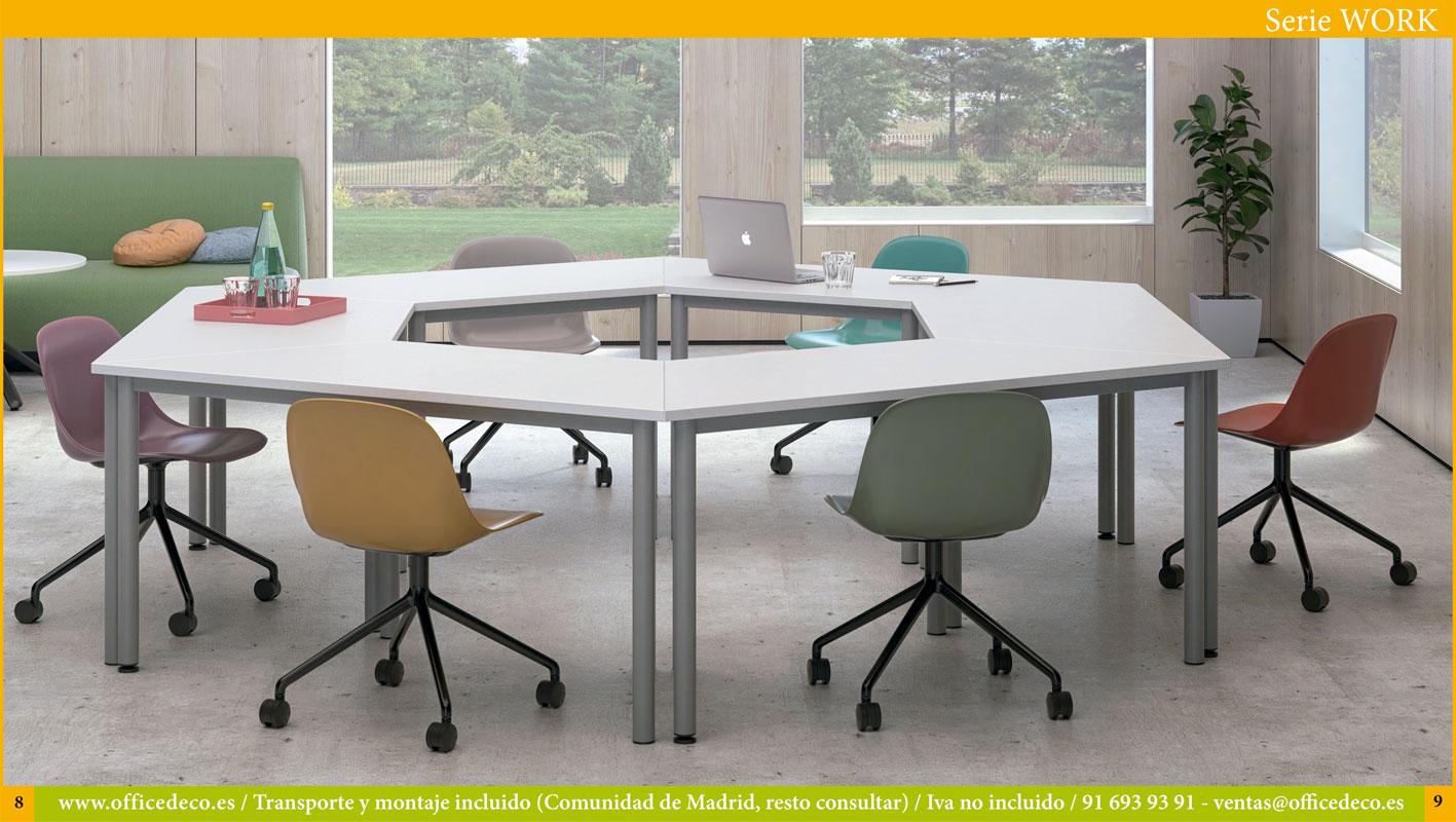 Muebles de formación y comunicación visual serie Work