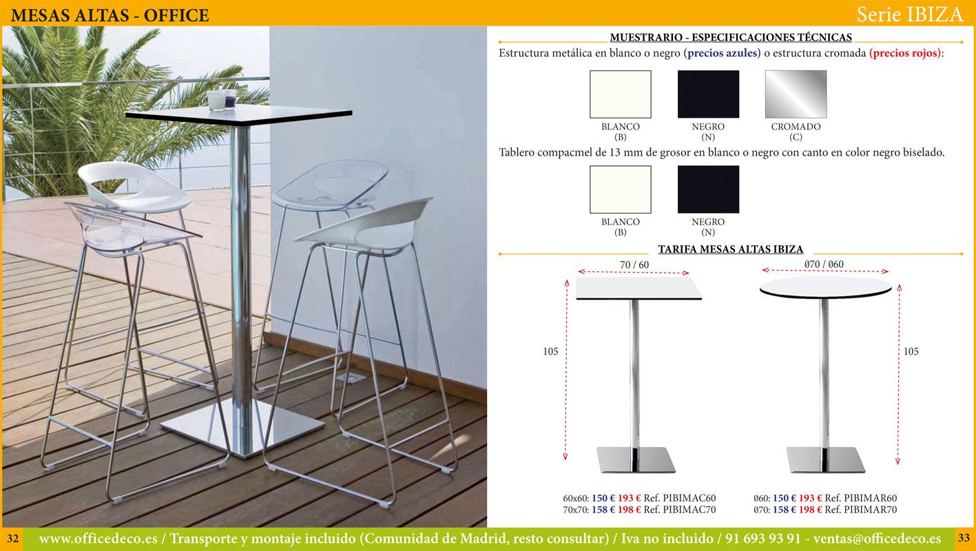 mesas altas office