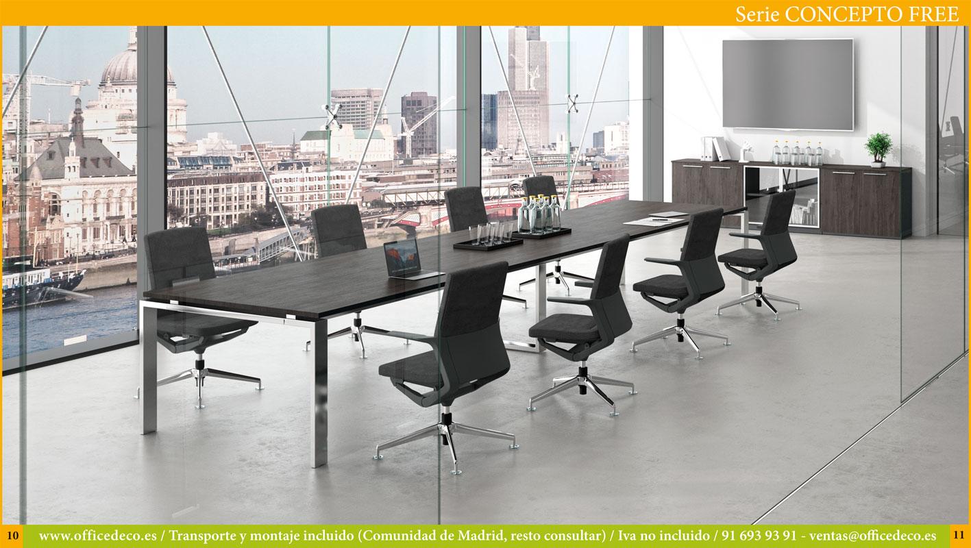 Muebles de oficina directivos y operativos serie Concepto Free.