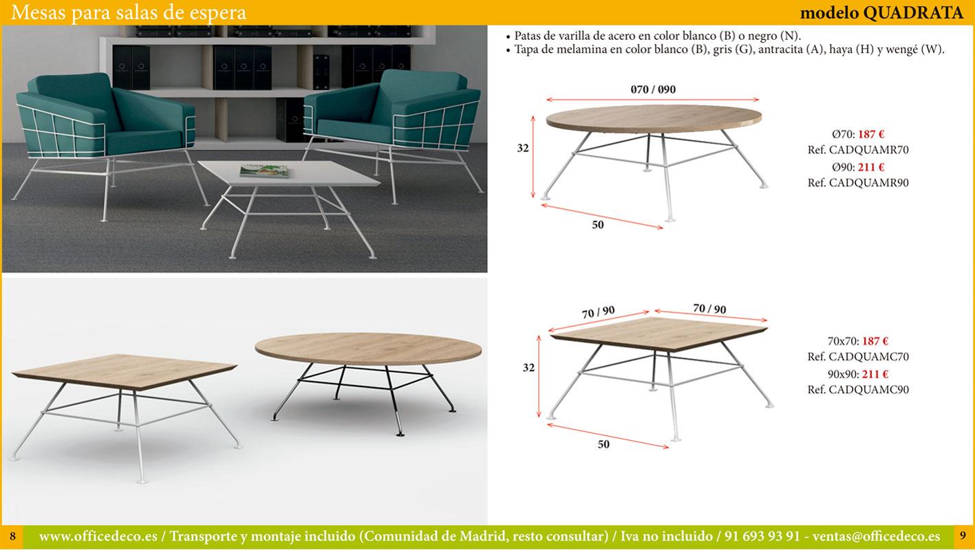 Mesas para salas de espera