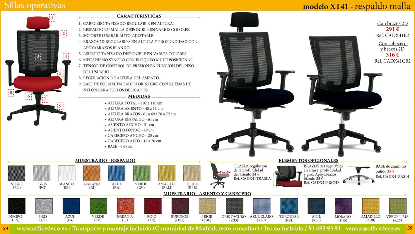 sillas de oficina operativas