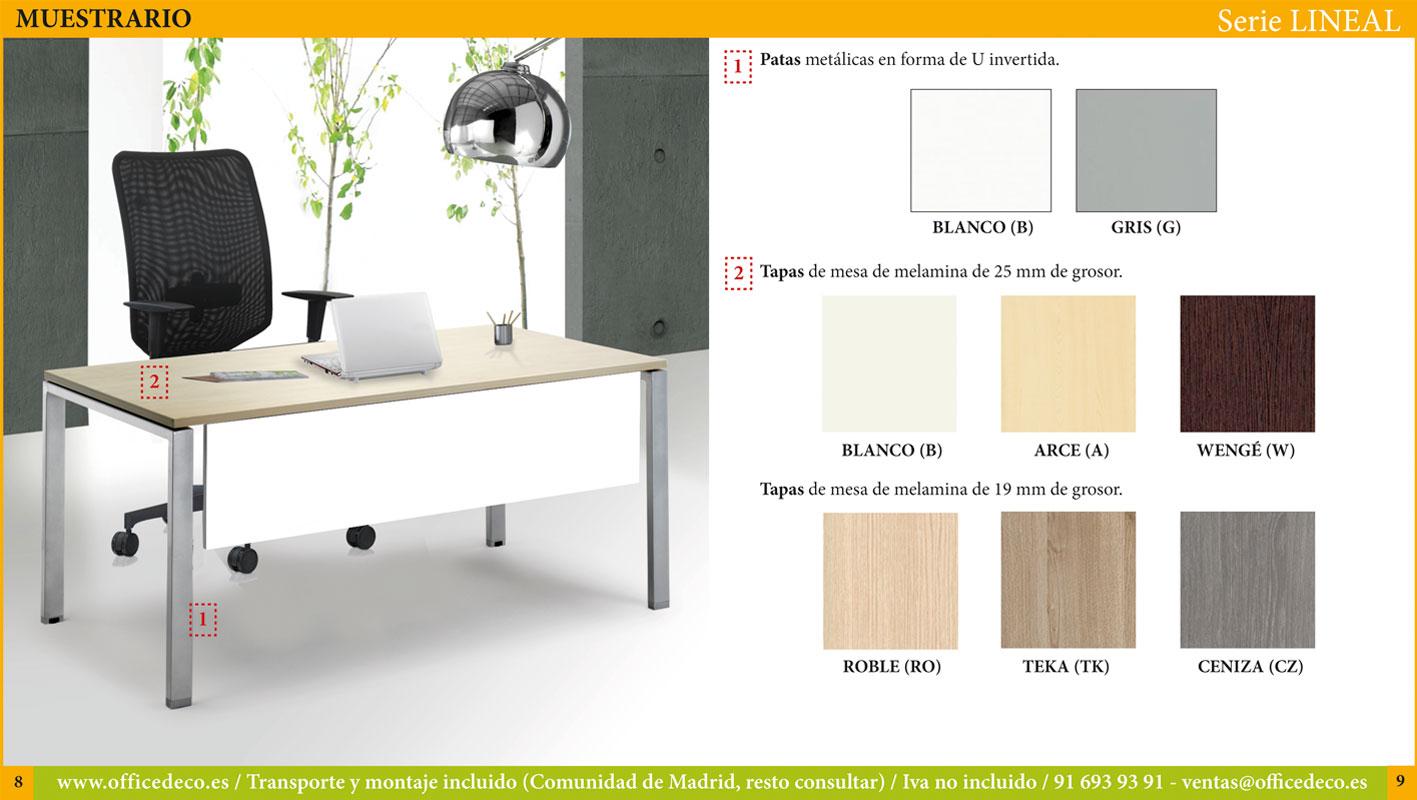 muebles operativos serie lineal