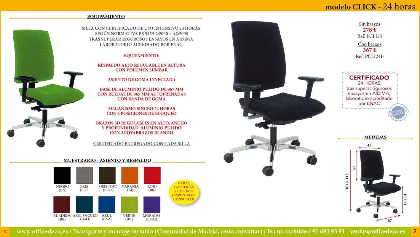 sillas certificadas uso 24 horas