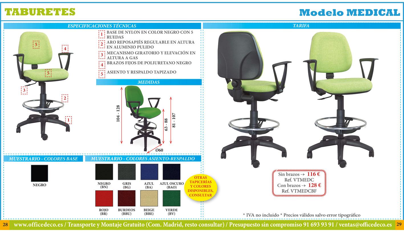 taburetes de oficina y office