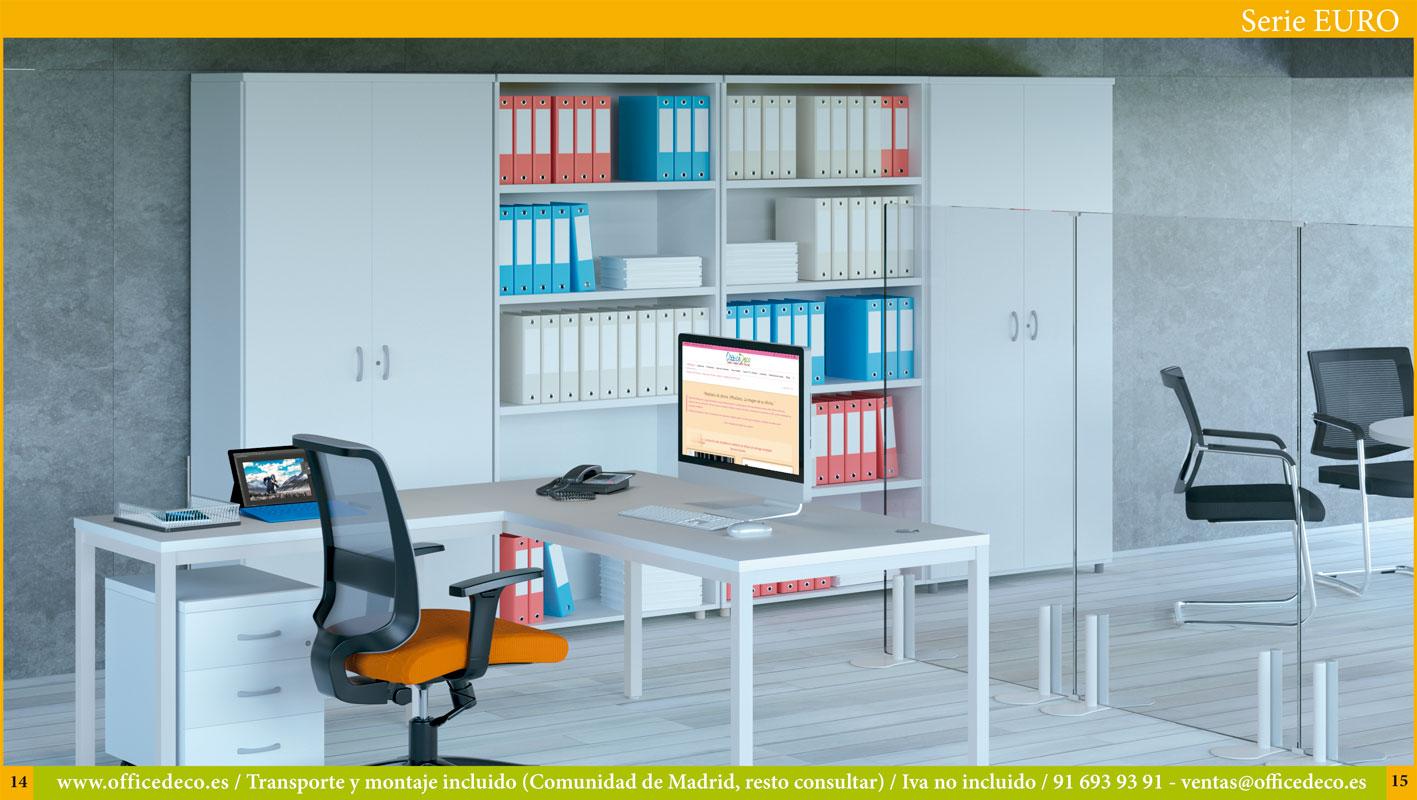 Librerías de oficina serie Euro.