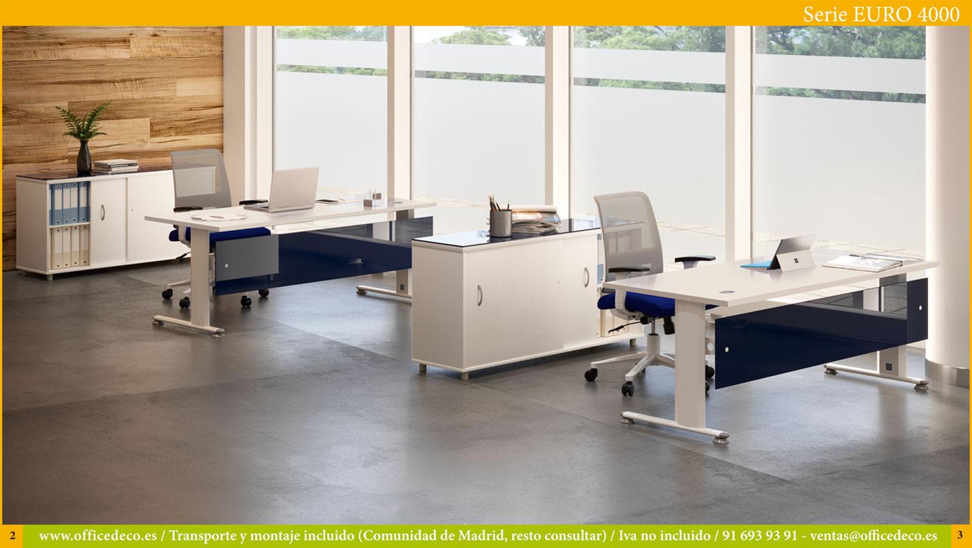 Muebles de oficina operativos serie Euro 4000