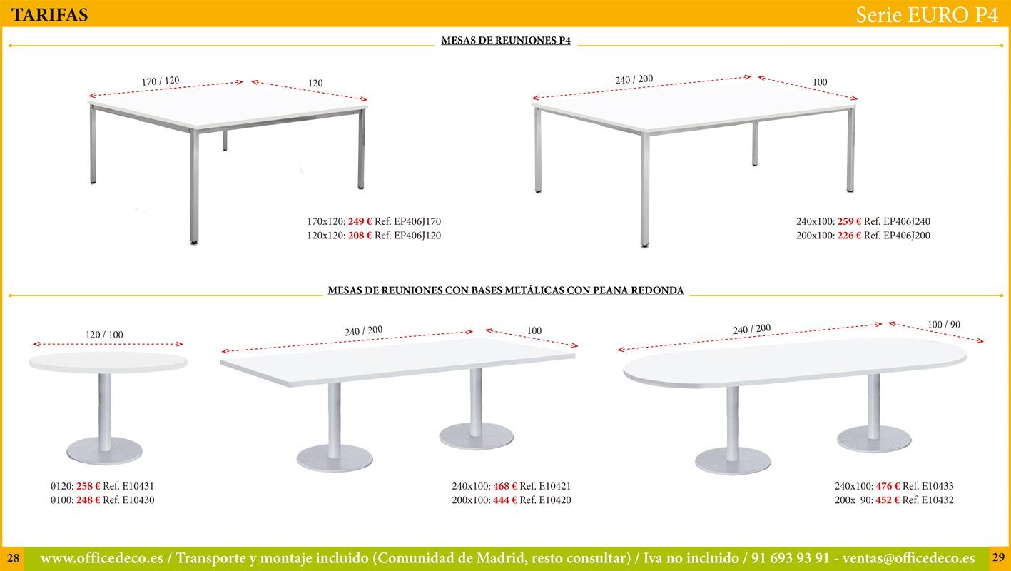 Muebles de oficina operativos Serie Euro P4