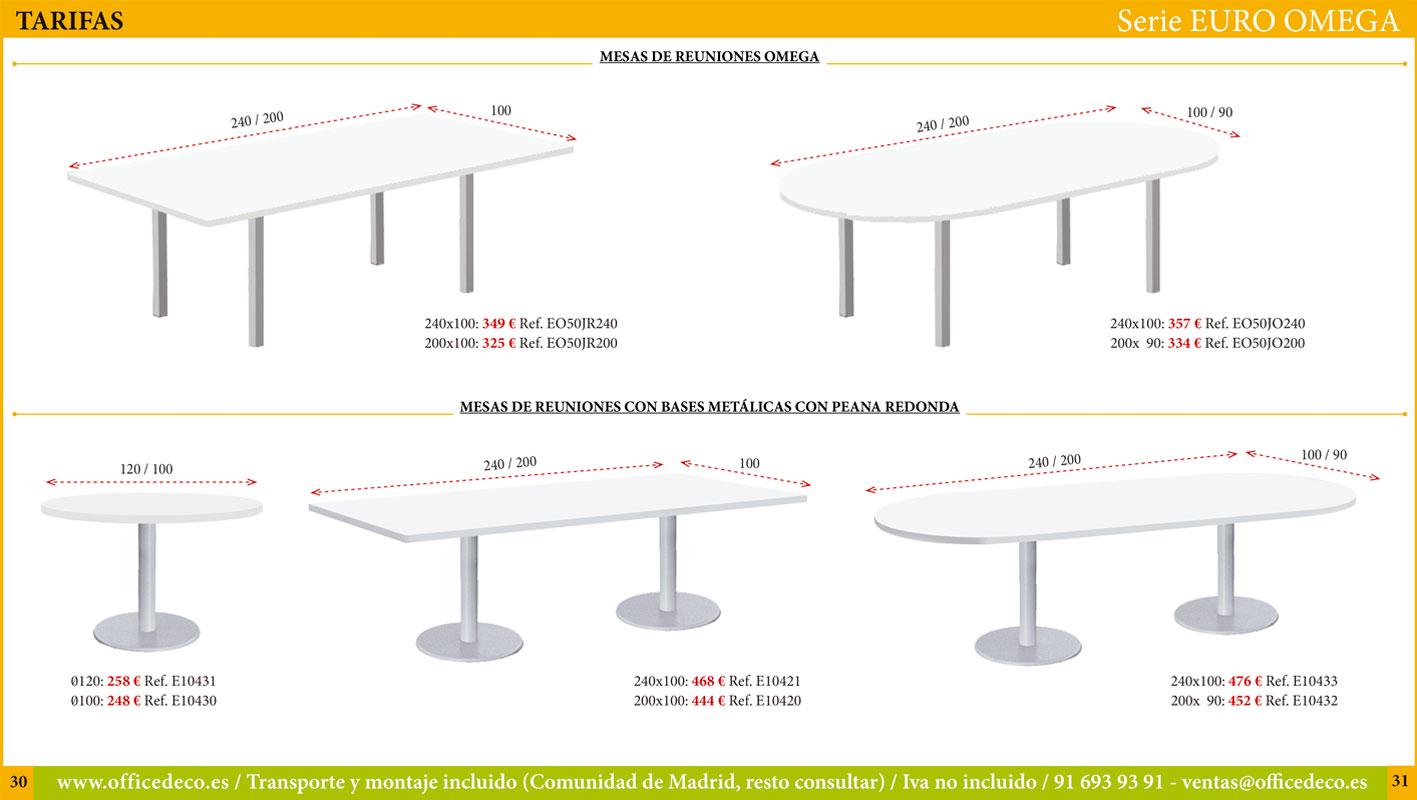 Muebles de oficina operativos serie Euro Omega