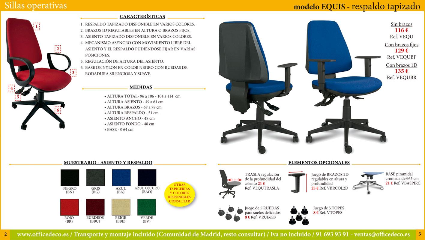 sillas operativas de oficina