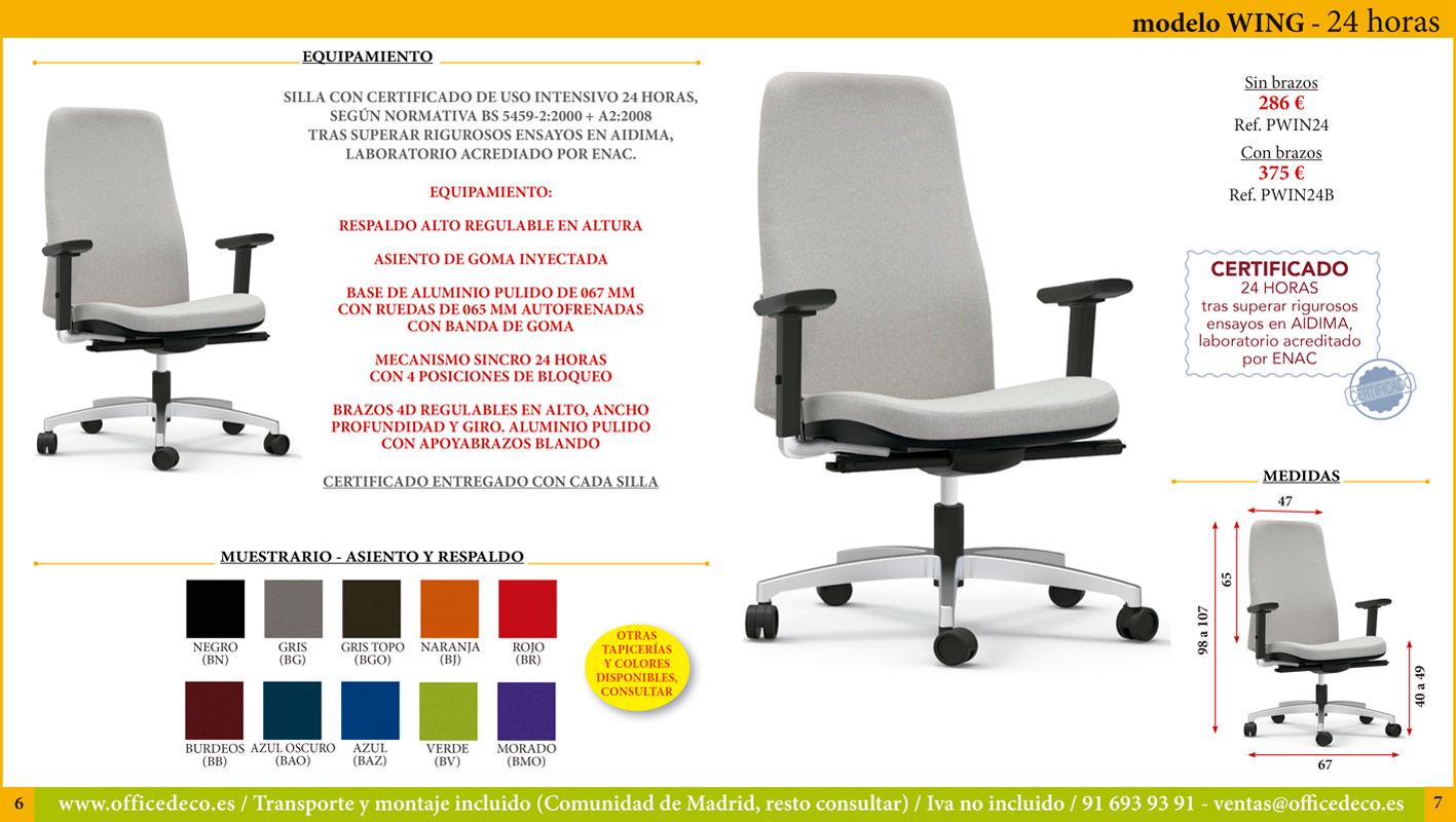 sillas de oficina 24 horas