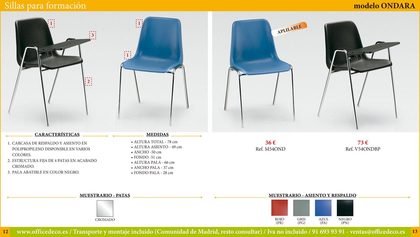 sillas para formación