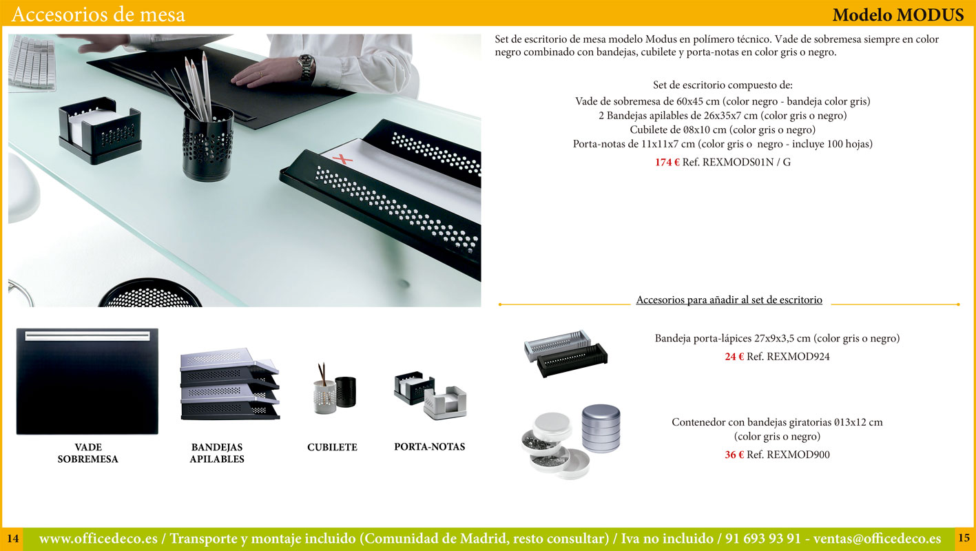 Accesorios y complementos de mesa