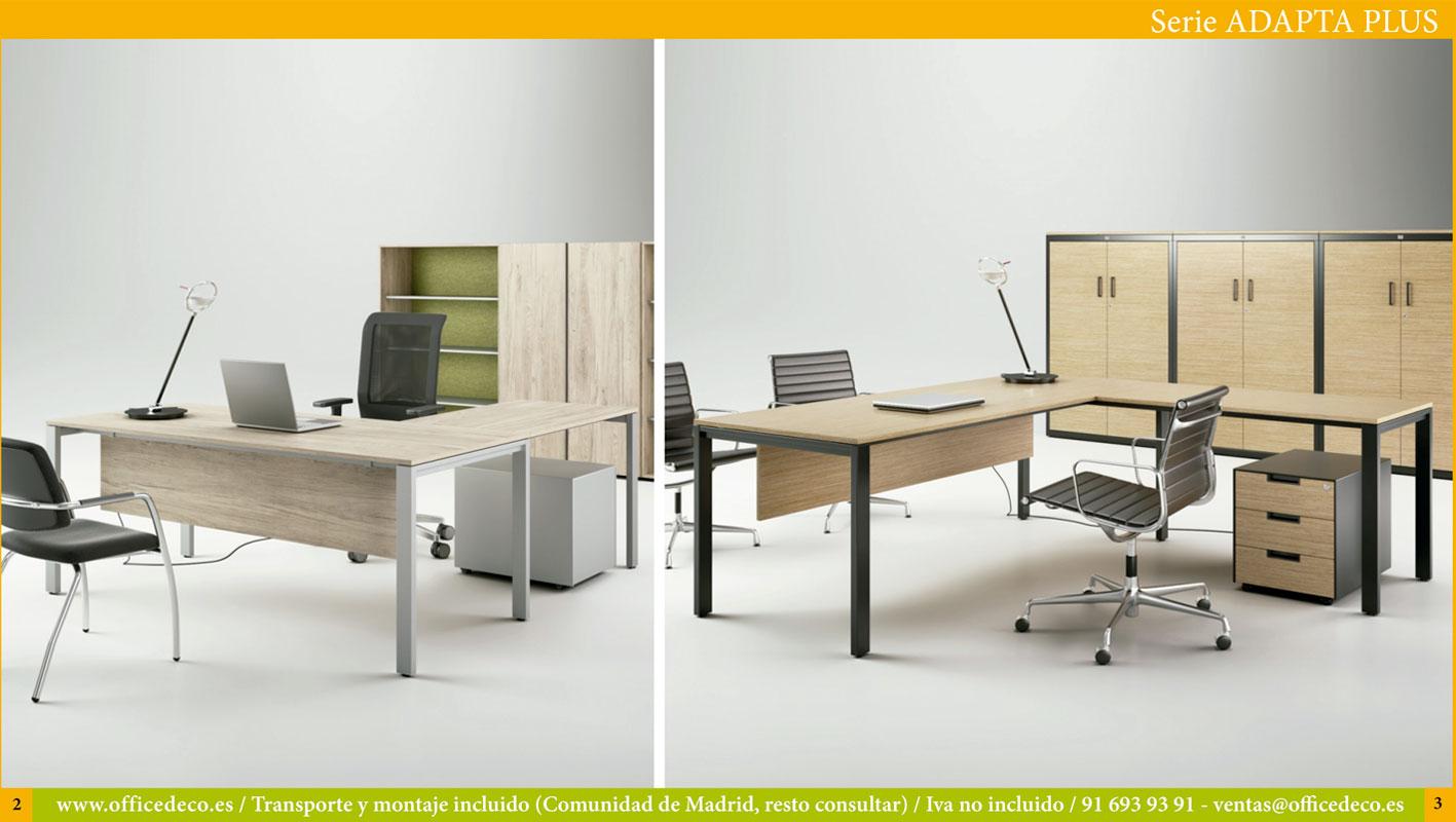 muebles de oficina serie adapta Plus