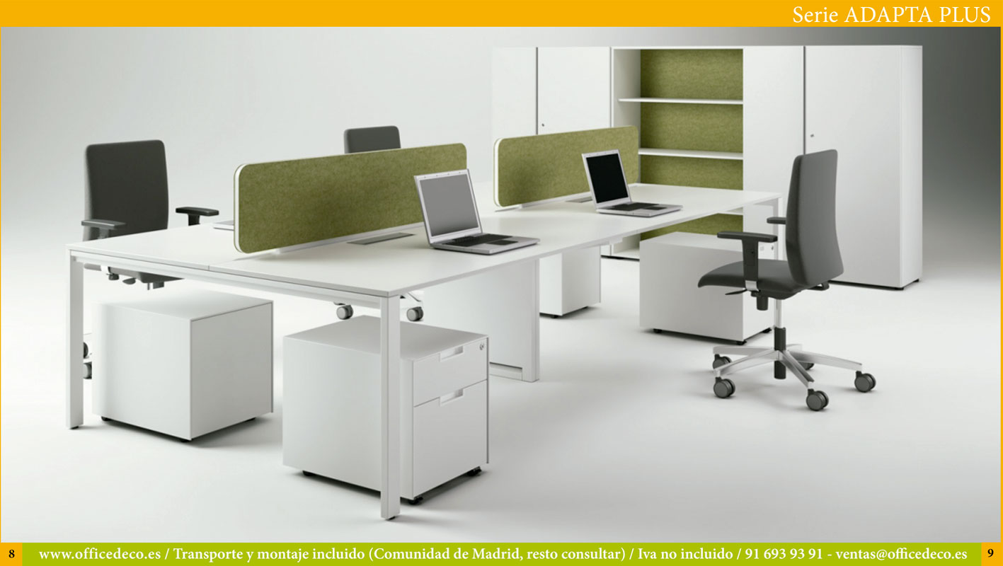 muebles de oficina serie adapta 2Plus